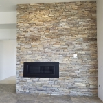 Fireplace - upgraded rock